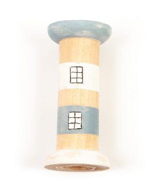 Leuchttürme aus Holzspulen basteln - Schritt 4