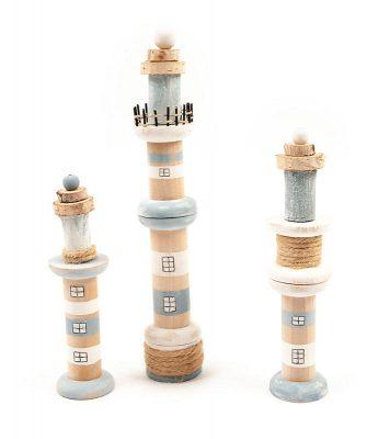 Leuchttürme aus Holzspulen basteln - Schritt 8