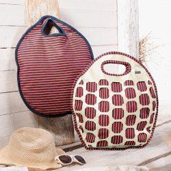 Tasche mit Lochmuster und Nappaleder