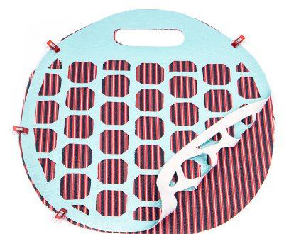 Tasche mit Lochmuster und Nappaleder - Schritt 3