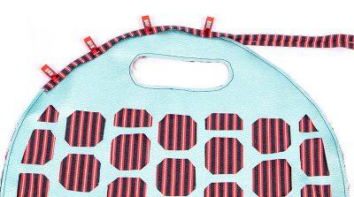 Tasche mit Lochmuster und Nappaleder - Schritt 6