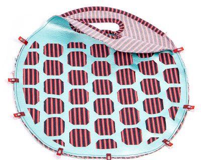 Tasche mit Lochmuster und Nappaleder - Schritt 9