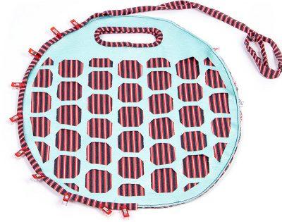 Tasche mit Lochmuster und Nappaleder - Schritt 11