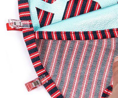 Tasche mit Lochmuster und Nappaleder - Schritt 12