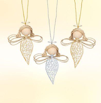 Engel mit Metallblättern