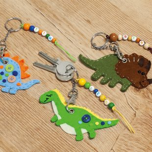 Schlüsselanhänger-Dino nähen