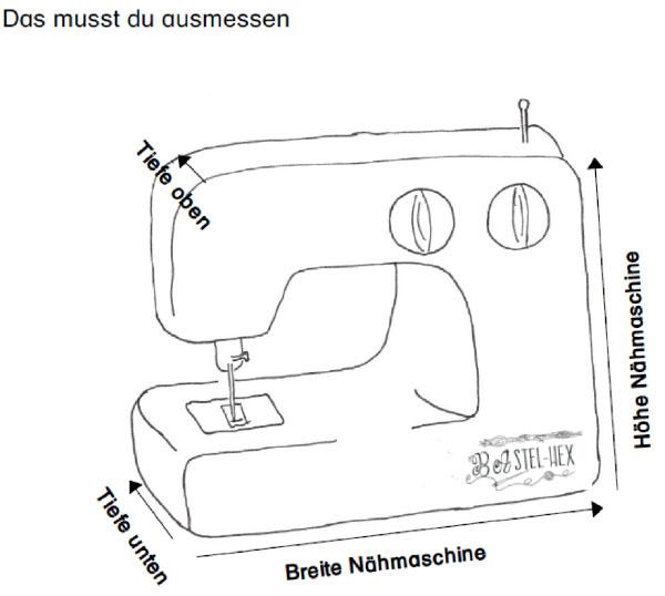 Nähmaschine ausmessen