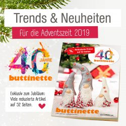 Adventsmailing - 40 Jahre buttinette