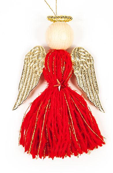 Engel aus Quasten basteln - Schritt 19