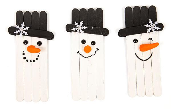 Schneemänner und Schneeflocken basteln - Schritt 9