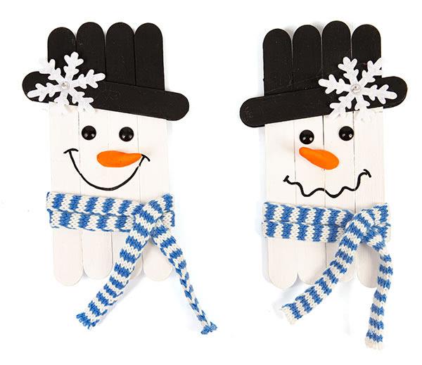 Schneemänner und Schneeflocken basteln - Schritt 11