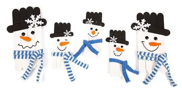 Schneemänner und Schneeflocken basteln - Schritt 12