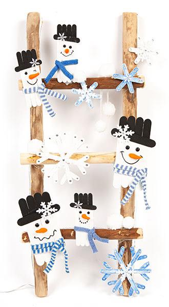 Schneemänner und Schneeflocken basteln - Schritt 20