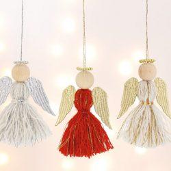 Engel aus Quasten basteln
