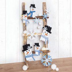 Schneemänner und Schneeflocken basteln