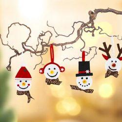 Winterliche Teelicht-Figuren basteln