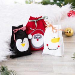 Weihnachtssäckchen nähen