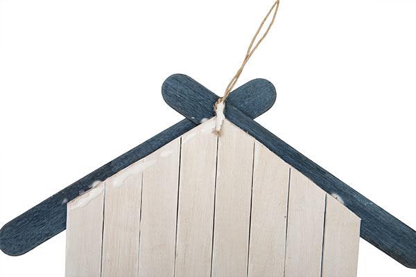 Weihnachtsdeko basteln - Häuser aus Holzstäbchen - Schritt 11