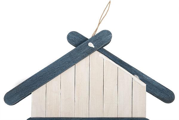 Weihnachtsdeko basteln - Häuser aus Holzstäbchen - Schritt 12