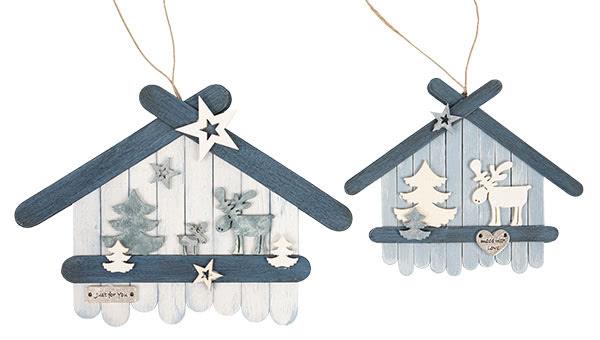 Weihnachtsdeko basteln - Häuser aus Holzstäbchen - Schritt 14