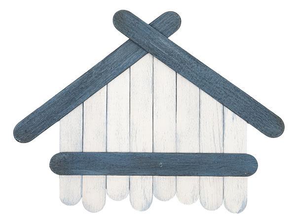 Weihnachtsdeko basteln - Häuser aus Holzstäbchen - Schritt 9