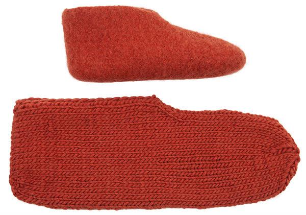 Schuhe filzen - Schritt 5
