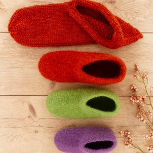 Schuhe filzen