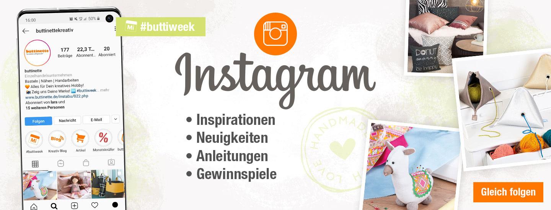 Folge buttinette auf Instagram!
