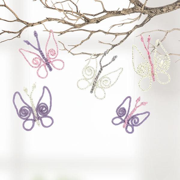Schmetterlinge aus Wolldraht basteln