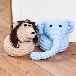Türstopper Elefant und Löwe