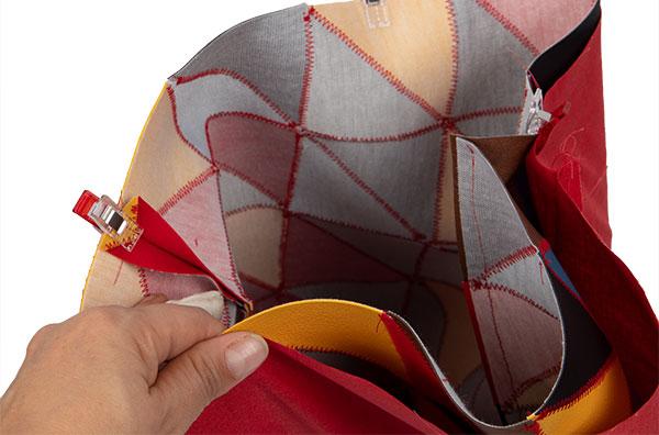 Patchworkttasche aus Leder nähen - Schritt 11