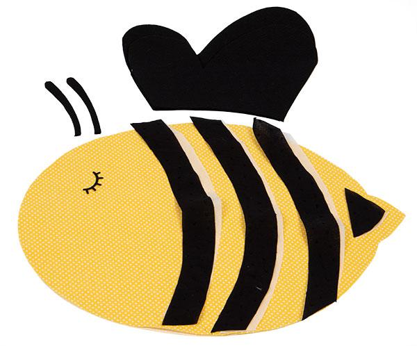 Bienenkissen nähen - Schritt 1