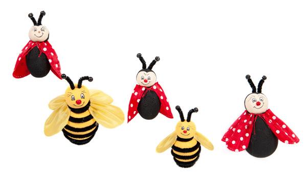 Bienen und Marienkäfer basteln - Schritt 22