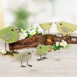 Vögel aus Wollband basteln