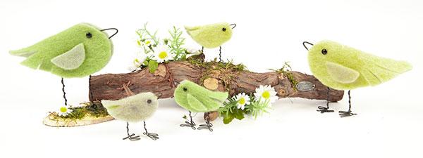 Vögel aus Wollband basteln - Schritt 7