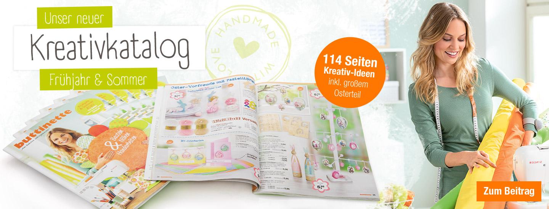Der neue buttinette Kreativkatalog Frühjahr & Sommer 2020