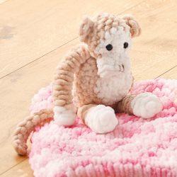 Affe aus Schlaufengarn Woll Butt Puffy stricken