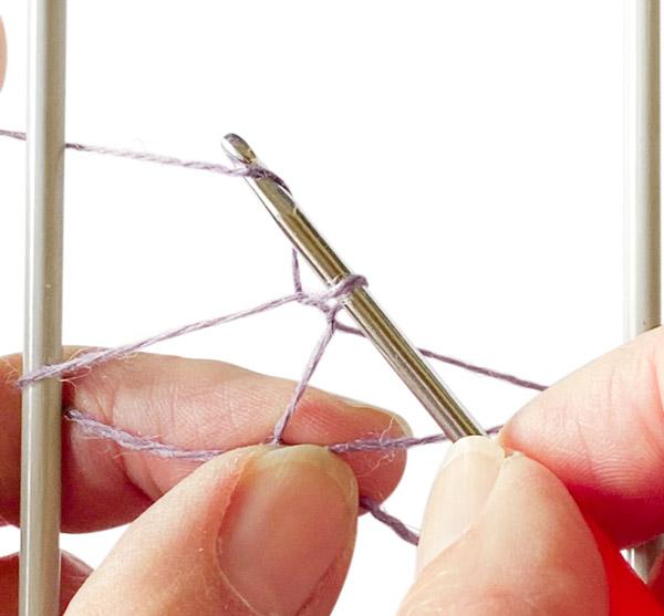 Schal mit Netzgabel häkeln - Schritt 3