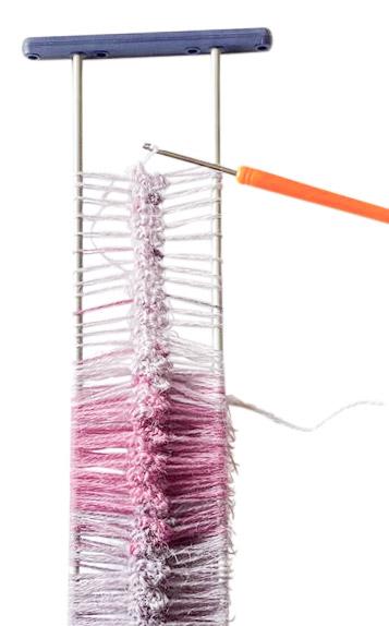 Schal mit Netzgabel häkeln - Schritt 6