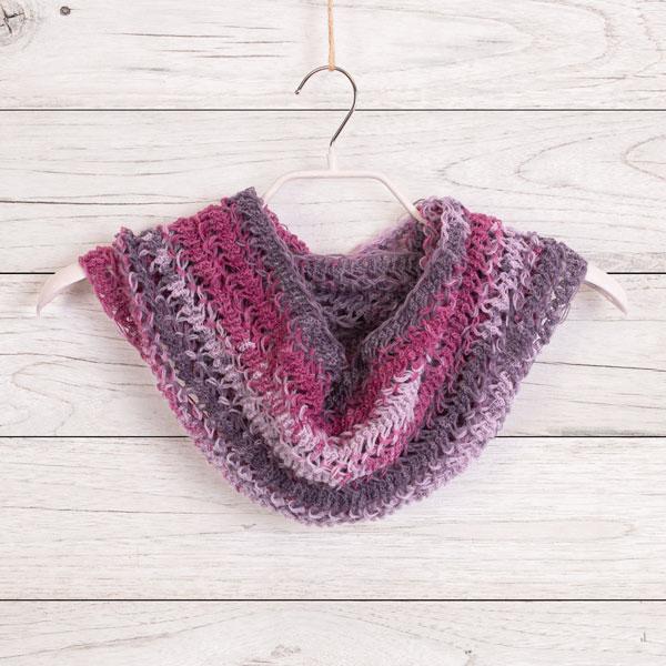 Schal mit Netzgabel häkeln