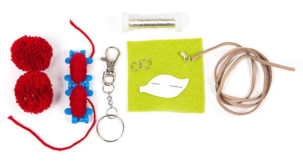 Schlüsselanhänger Kirsche basteln - Schritt 1