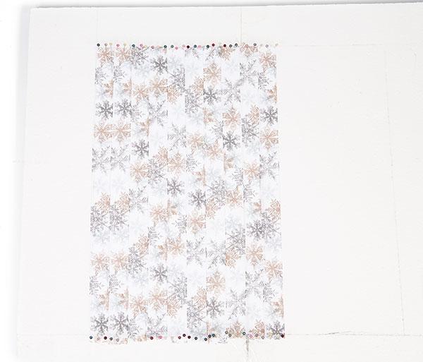 Wandbild aus Bändern weben - Schritt 2