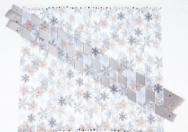 Wandbild aus Bändern weben - Schritt 4