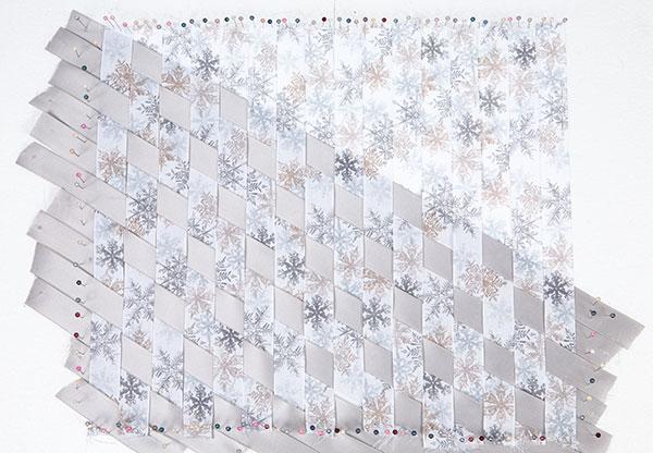 Wandbild aus Bändern weben - Schritt 5
