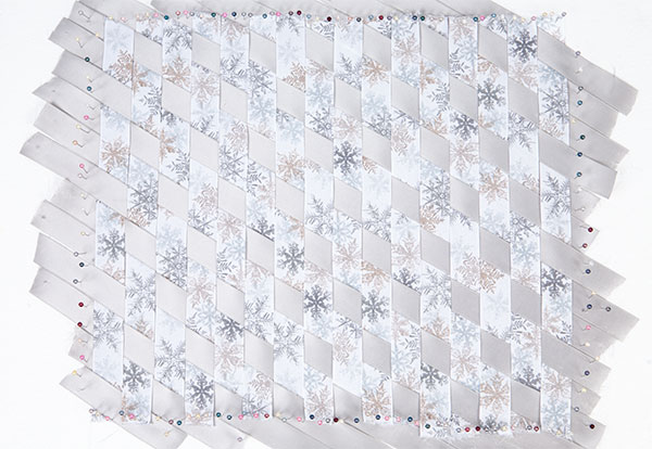 Wandbild aus Bändern weben - Schritt 6