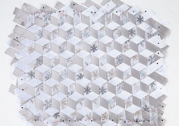 Wandbild aus Bändern weben - Schritt 9