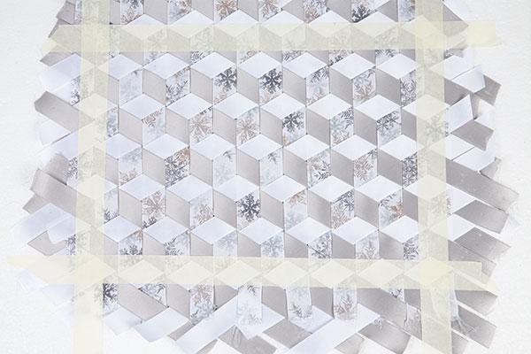 Wandbild aus Bändern weben - Schritt 10