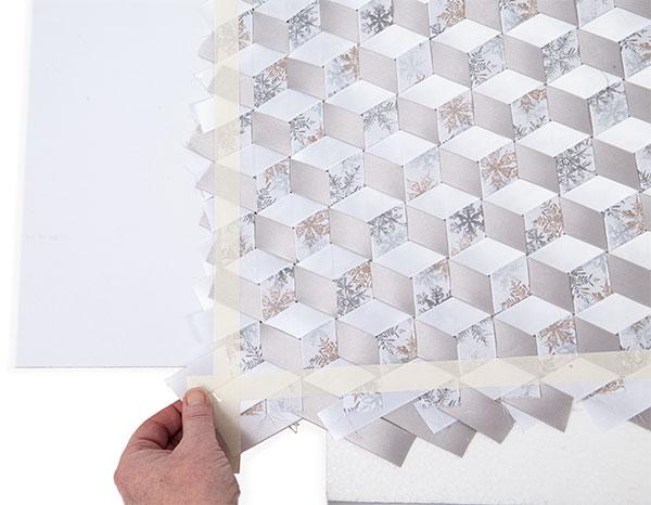 Wandbild aus Bändern weben - Schritt 13
