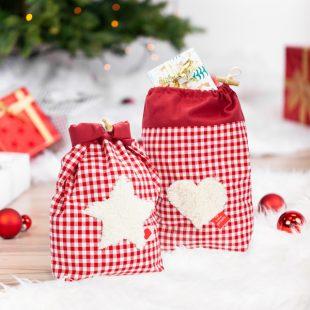 Weihnachtliche Geschenktäschchen nähen