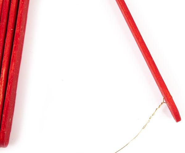 Weihnachtsdeko aus Holzstäbchen basteln - Schritt 9